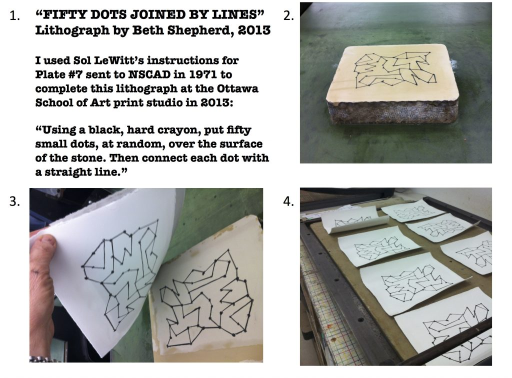 "Litho print process for ""Fifty Dots Joined by Lines"", 2013"